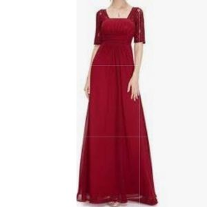 🦋NWT Ever Pretty Maroon A-line Formal Gown
